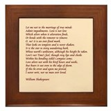 Sonnet 116 Framed Tile