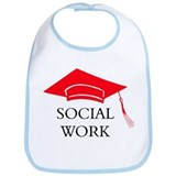 Red SW Grad Cap Bib