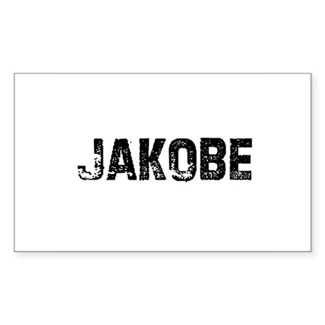 Jakobe Rectangle Sticker