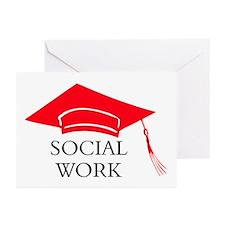 Red SW GradCap Congratulation Cards (Pk of 10)