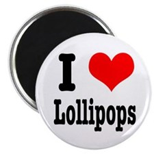 I Heart (Love) Lollipops Magnet