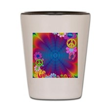 hippie frame Shot Glass
