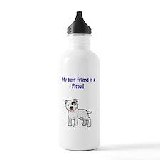 pitbull friend Water Bottle