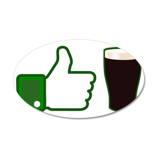 Like Beer 35x21 Oval Wall Decal