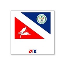 "Dive Belize Square Sticker 3"" x 3"""