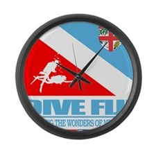 Dive Fiji Large Wall Clock