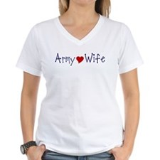 Army Wife with red heart Shirt