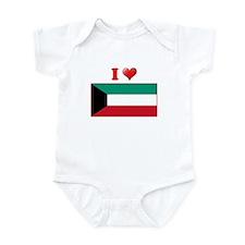 I love Kuwait Flag Infant Bodysuit