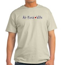 Air Force Wife with red heart T-Shirt