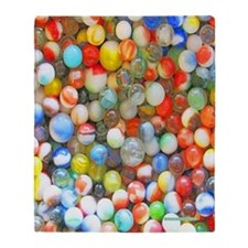 Colorful Marbles Throw Blanket