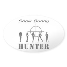 Snow Bunny Hunter Oval Decal