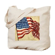 Vintage American Flag Constitution Tote Bag