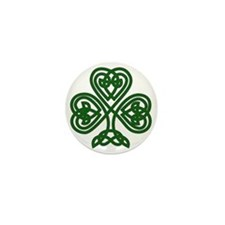 Celtic Clover (dark) Mini Button