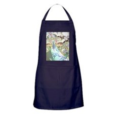 Abstract Fractal Wings of Angels Apron (dark)