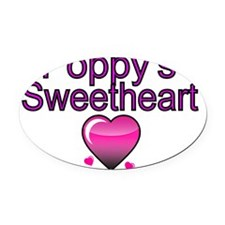 Poppys Sweetheart Oval Car Magnet