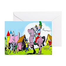 Jack the Giant Killer  Princess Greeting Card