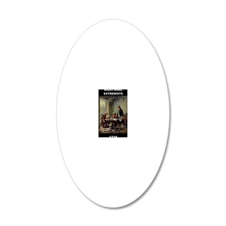 RIGHT WING EXTREMISTS 1776 20x12 Oval Wall Decal