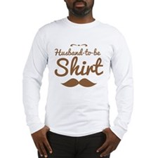 Husband to be shirt with moustache mustache Long S