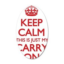 Keep Calm Carry On Bag Wall Sticker