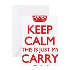 Keep Calm Carry On Bag Greeting Card
