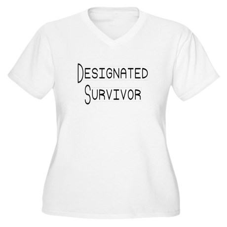 Designated Survivor Women's Plus Size V-Neck T-Shi