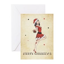 Vintage pinup tattoo Greeting Cards