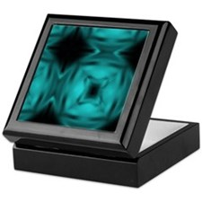 Black and Teal Design Keepsake Box