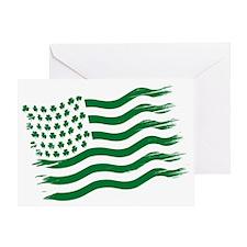 Irish American Flag - green Greeting Card