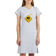 Burnout Traffic Sign 2 Women's Nightshirt