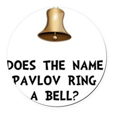 Pavlov Ring Bell Round Car Magnet