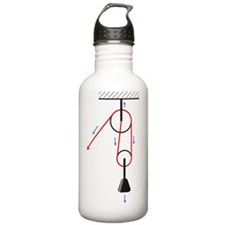 Block and tackle, artw Water Bottle