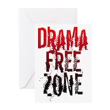 Drama FREE ZONE Greeting Card