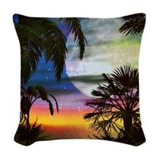 Hawaiian Sunset Woven Throw Pillow