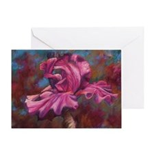 Purple Iris Flower Greeting Card
