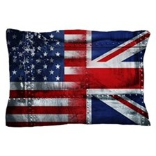 UK USA FLAG Pillow Case
