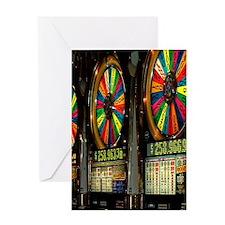 Las Vegas Slot Machines Greeting Card