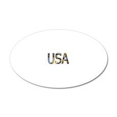 USA 20x12 Oval Wall Decal