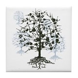 Guitar Tree Tile Coaster