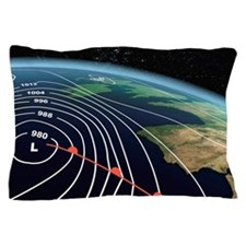European severe storm, isobar diagram Pillow Case
