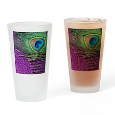 Glittery Purple Twin Drinking Glass