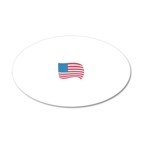 Flag 20x12 Oval Wall Decal