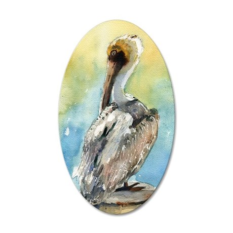 Pelican Brief 35x21 Oval Wall Decal
