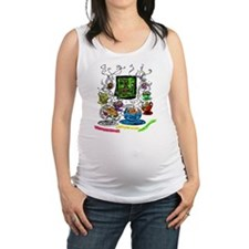 Shaking the Teacups Maternity Tank Top