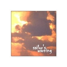 "sailors warning Square Sticker 3"" x 3"""