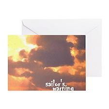 sailors warning Greeting Card