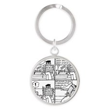 Communication Problem Round Keychain