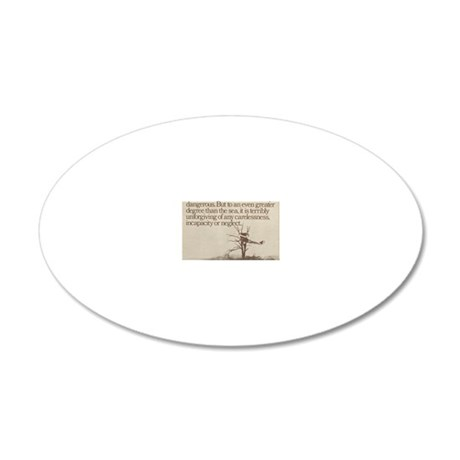 Plane in a Tree 20x12 Oval Wall Decal