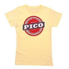 Pico Mountain Ski Resort Vermont Red Girl's Tee
