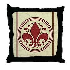 fleur-antique-red-CRD Throw Pillow