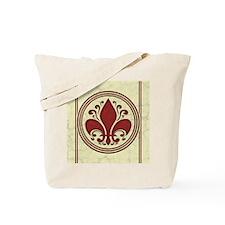 fleur-antique-red-CRD Tote Bag
